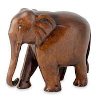 Handmade Kadam Wood 'Fabled Elephant' Statuette (India)