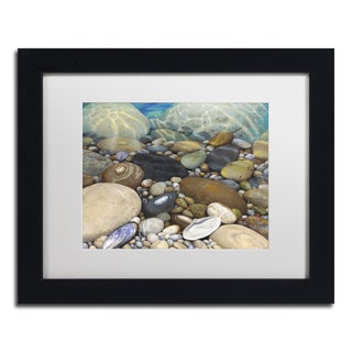 Stephen Stavast 'Shoreline Treasures' Canvas Framed Art