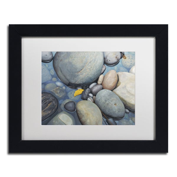 Stephen Stavast 'Reflections on a Gray Day' Canvas Framed Art - Multi