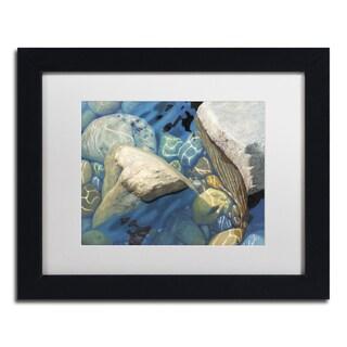 Stephen Stavast 'Blue Water Dance' Canvas Framed Art