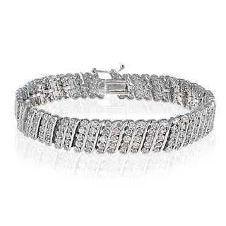 DB Designs 1ct TDW Diamond Miracle Set Wave Tennis Bracelet (I-J, I2-3)