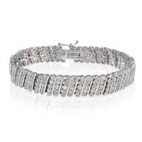 DB Designs 1ct TDW Diamond Miracle Set Wave Tennis Bracelet