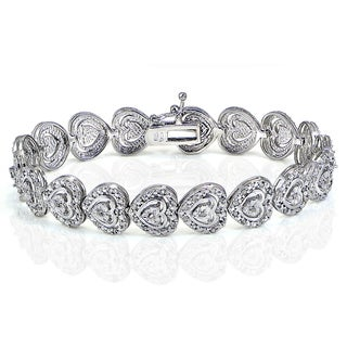 DB Designs 1ct TDW Diamond Miracle Set Heart Tennis Bracelet (I-J, I2-3)