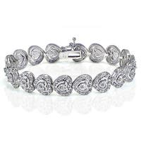 DB Designs 1ct TDW Diamond Miracle Set Heart Tennis Bracelet