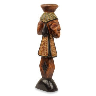 Handcrafted Sese Wood 'Shango' Sculpture (Ghana)