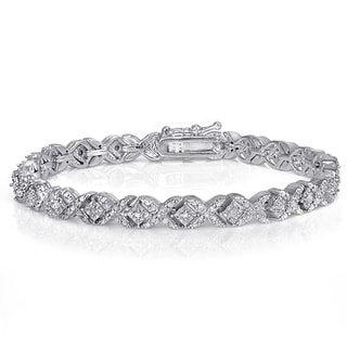 DB Designs Diamond 1ct TDW Fashion XO Bracelet (I-J, I2-I3)