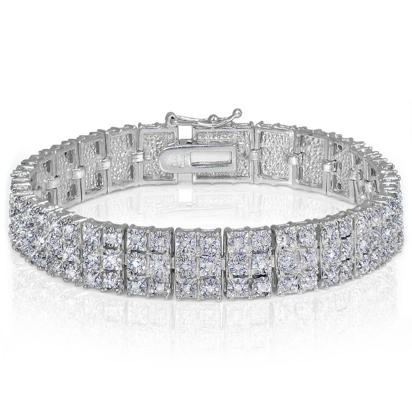 DB Designs Diamond 1ct TDW Miracle Set 3-Row Tennis Bracelet. Opens flyout.