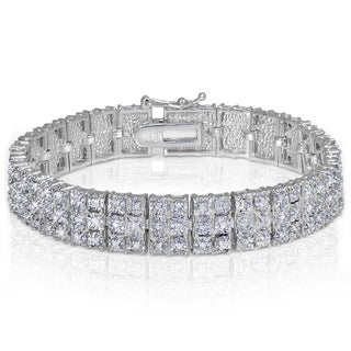 DB Designs Diamond 1ct TDW Illusion Set 3-Row Tennis Bracelet