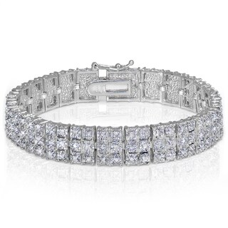 DB Designs Diamond 1ct TDW Miracle Set 3-Row Tennis Bracelet (2 options available)