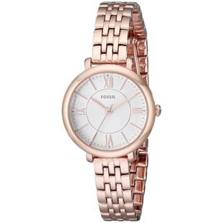 Fossil Woman's ES3799 Rose Gold Stainless Steel Watch