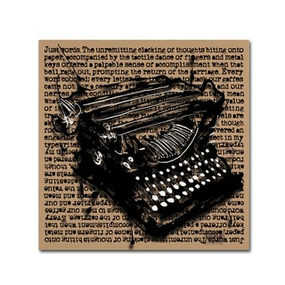 Roderick Stevens 'Three-Quarter Typewriter' Canvas Art