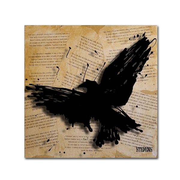 Roderick Stevens 'The Raven 2' Canvas Art - Multi