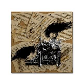 Roderick Stevens 'Quoth the Raven 1' Canvas Art