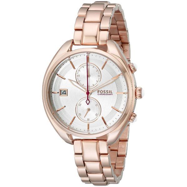 Fossil Woman's CH2977 Land Racer Chronograph Stainless Steel Rose Gold Watch. Opens flyout.
