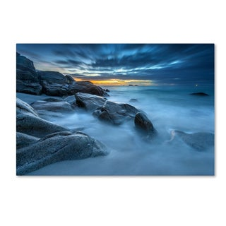 Mathieu Rivrin 'Blue Hour for a Blue Ocean' Canvas Art