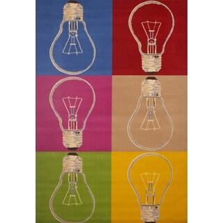 Ideas Multicolored Olefin Area Rug by Greyson Living - 5'3 x 7'6