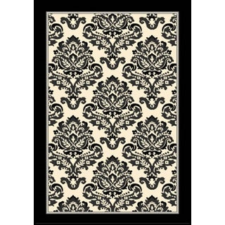 Greyson Living Burlington Creme/ Grey/ Black Olefin Area Rug (7'10 x 10'6)