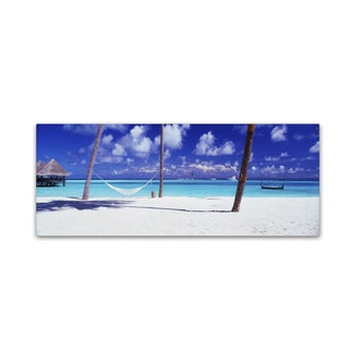 David Evans 'View for One-Maldives' Canvas Art