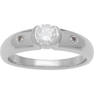 Boston Bay Diamonds 14k White Gold 1/2ct TDW Contemporary Diamond Engagement Ring (H-I, SI1-SI2)