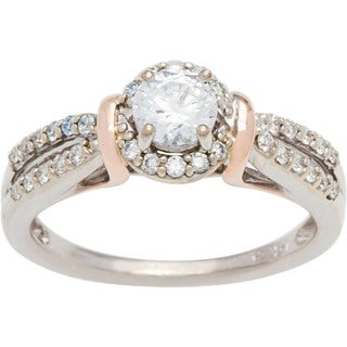 Boston Bay Diamonds 14k Two-tone Gold 3/4ct TDW Diamond Engagement Ring (G-H, SI1-SI2)