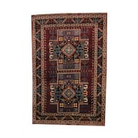 Handmade Herat Oriental Afghan Tribal Kazak Wool Rug  - 6'7 x 9'7 (Afghanistan)