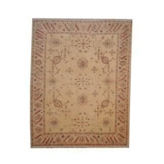 Herat Oriental Afghan Hand-knotted Vegetable Dye Oushak Wool Rug (8' x 10'1)