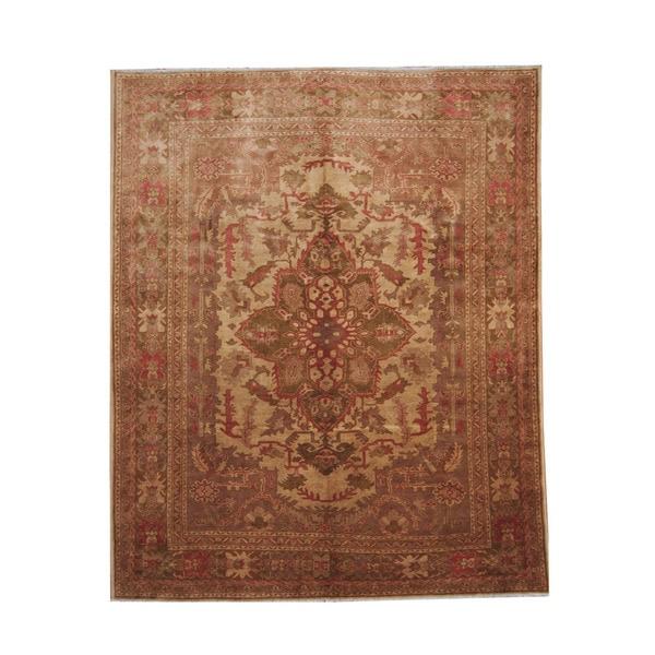 Herat Oriental Afghan Hand-knotted Vegetable Dye Oushak Wool Rug (8' x 9'8) - 8' x 9'8