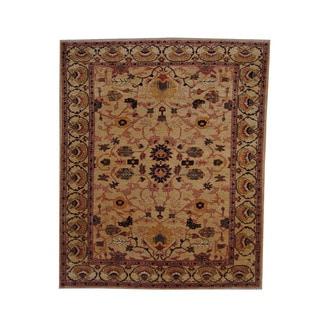 Herat Oriental Afghan Hand-knotted Vegetable Dye Oushak Wool Rug (8' x 9'8)