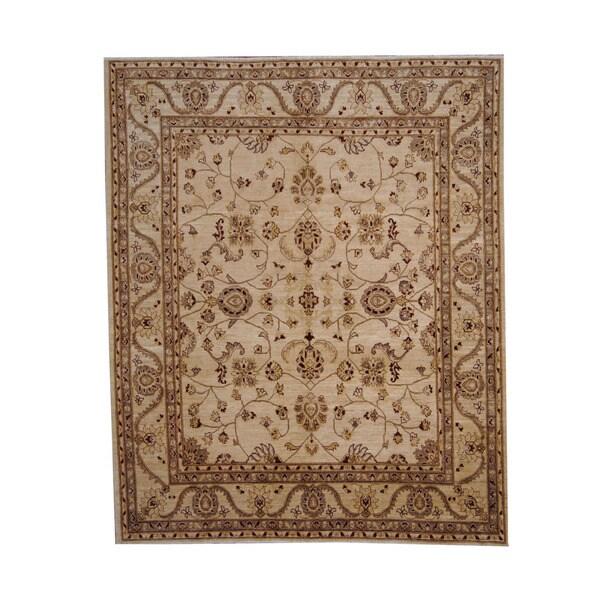 Herat Oriental Afghan Hand-knotted Vegetable Dye Oushak Wool Rug (8' x 9'9) - 8' x 9'9