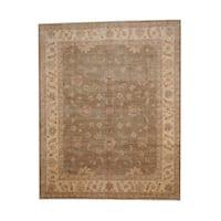 Herat Oriental Afghan Hand-knotted Vegetable Dye Oushak Wool Rug (7'9 x 9'9) - 7'9 x 9'9