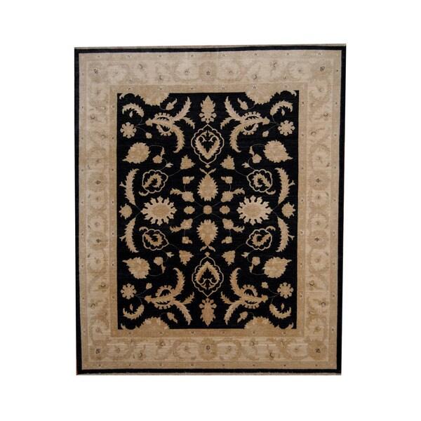 Herat Oriental Afghan Hand-knotted Vegetable Dye Oushak Wool Rug (8'1 x 9'8) - 8'1 x 9'8