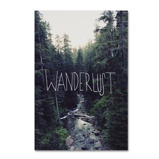 Leah Flores 'Wanderlust Rainier Creek' Canvas Art