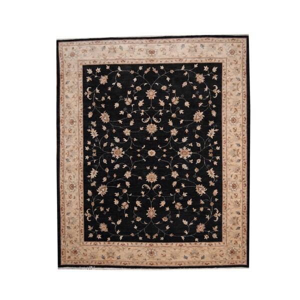 Handmade Herat Oriental Afghan Vegetable Dye Oushak Wool Rug - 8'2 x 9'8 (Afghanistan)