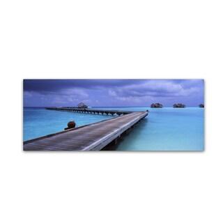 David Evans 'Aquamarine-Maldives' Canvas Art