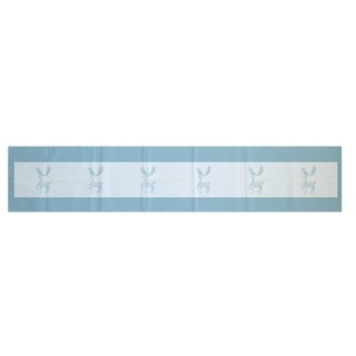 Blue/ Grey Decorative Holiday Animal Print 16 x 90-inch Table Runner (2 options available)
