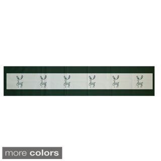 Red/ Green Decorative Holiday Animal Print 16 x 90-inch Table Runner