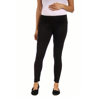 24/7 Comfort Apparel Women's Maternity Ankle-length Leggings (Option: Brown)