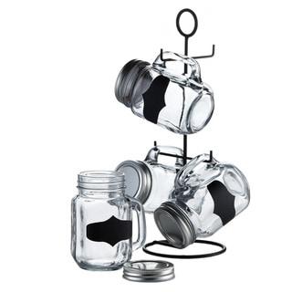 Style Setter 5-piece Blackboard Mason Jar Set