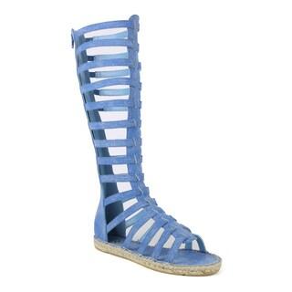 Fahrenheit Women's Leann-04 Flat Tall Women's Espadrille sandal