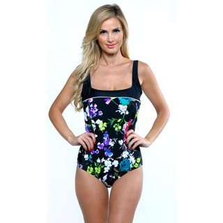 It Figures Black Garden State Sweetheart Tank Swimsuit