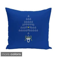 Blue/ Red/ Green Decorative Holiday Print 20-inch Pillow