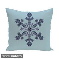 White/ Blue Holiday Print 18-inch Pillow