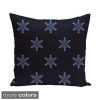 White/ Blue Decorative Holiday Pattern 18-inch Pillow