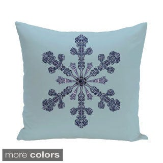 White/ Blue Decorative Holiday 20-inch Accent Pillow