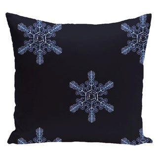 White/ Blue Decorative Holiday Print 20-inch Pillow