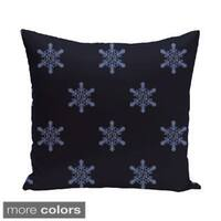White/ Blue Decorative Holiday 20-inch Pillow