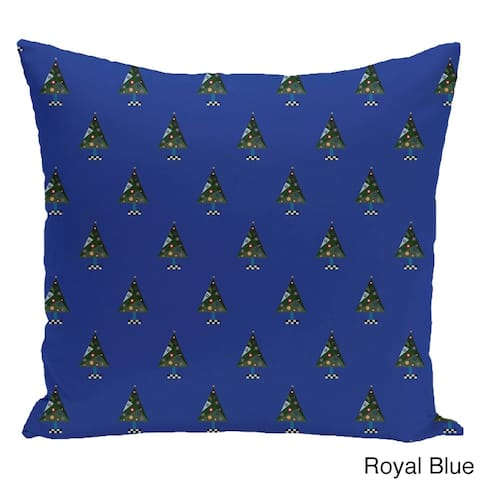 Blue/ Red/ Green/ Purple Holiday Pattern 26-inch Decorative Pillow