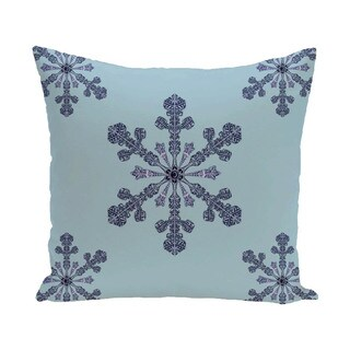 White/ Blue Holiday Pattern  26-inch Decorative Pillow