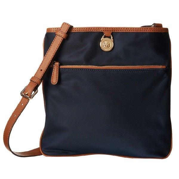 Michael Kors Kempton Large Navy Pocket Nylon Crossbody Handbag