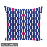 Blue/ Red/ Green Decorative Holiday Geometric Print 20-inch Pillow